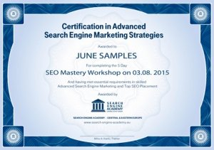 Search Engine Online Marketing Certification